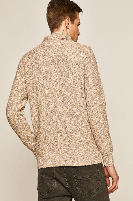 Sweter męski z golfem beżowy