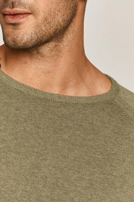 Sweter męski zielony