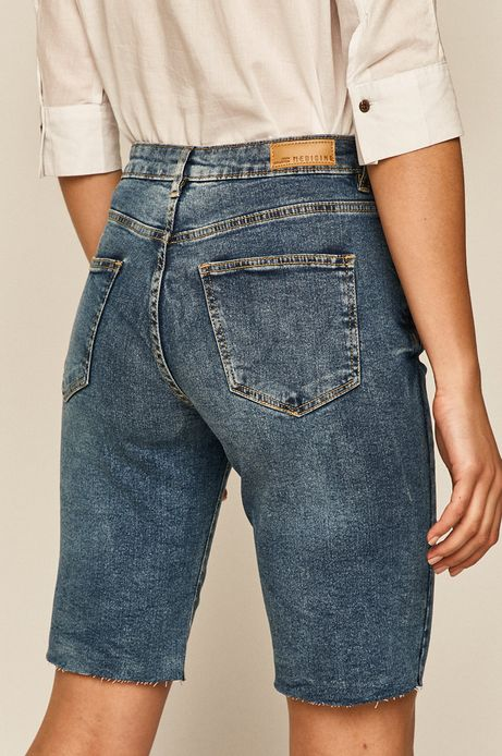 Szorty damskie jeansowe niebieskie