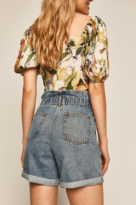 Szorty jeansowe damskie niebieskie