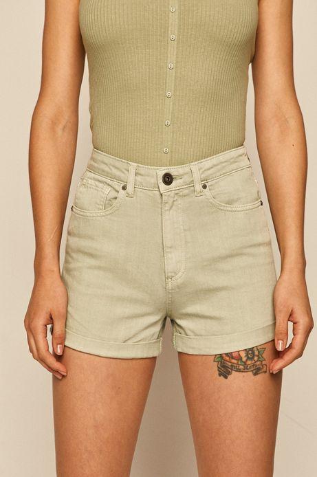 Szorty damskie jeansowe zielone