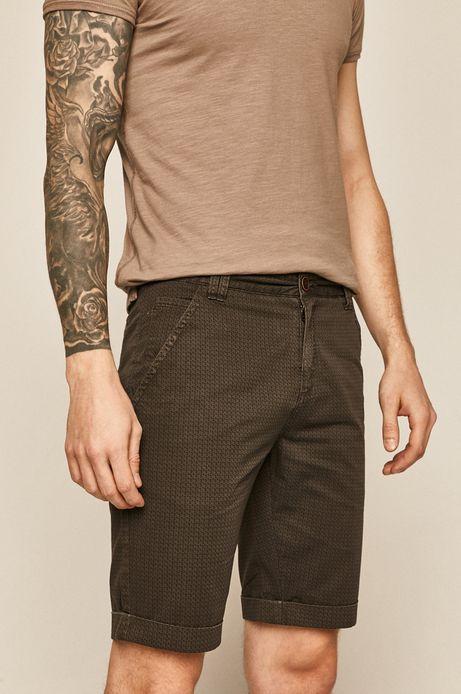 Szorty męskie w drobny deseń szare
