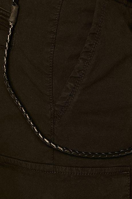 Szorty męskie z kieszeniami cargo czarne