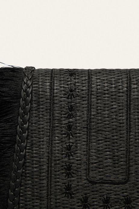 Torebka damska z plecionego materiału czarna
