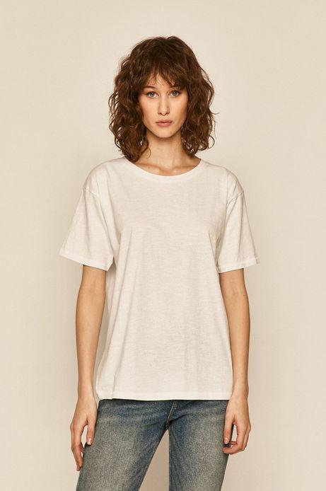 T-shirt damski bawełniany biały