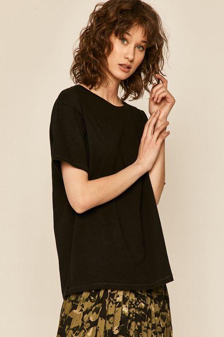 T-shirt damski bawełniany czarny