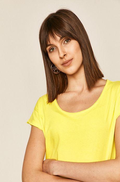T-shirt damski gładki żółty