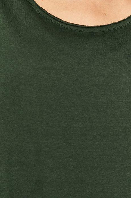 T-shirt damski gładki zielony