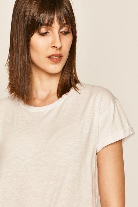 T-shirt damski gładki biały