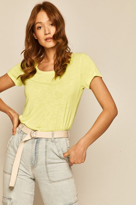 T-shirt damski żółty