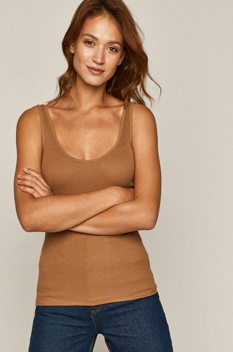 Top damski brązowy