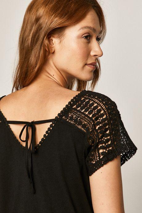 T-shirt damski z bawełny organicznej czarny