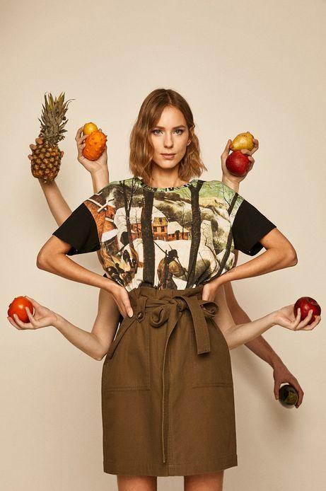 T-shirt damski Eviva L'arte wzorzysty