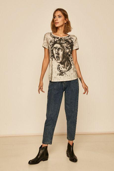 T-shirt damski Eviva L'arte szary