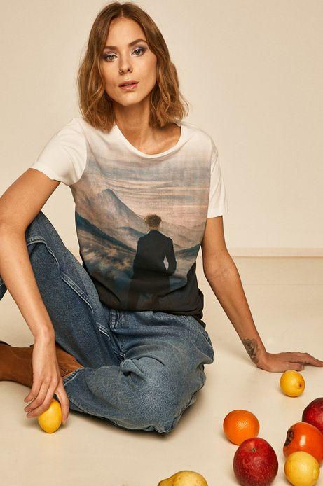 T-shirt damski Eviva L'arte biały