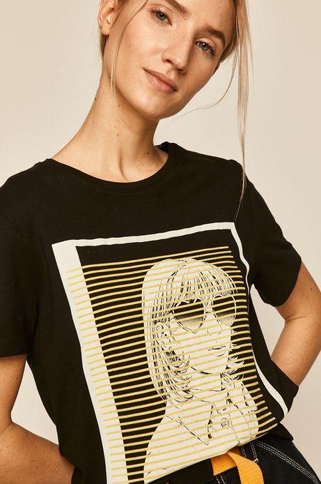 T-shirt damski Valentine's czarny
