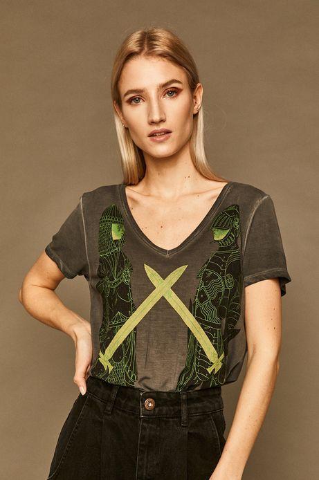 T-shirt damski by Patrycja Podkościelny szary