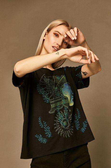 T-shirt damski by Patrycja Podkościelny czarny