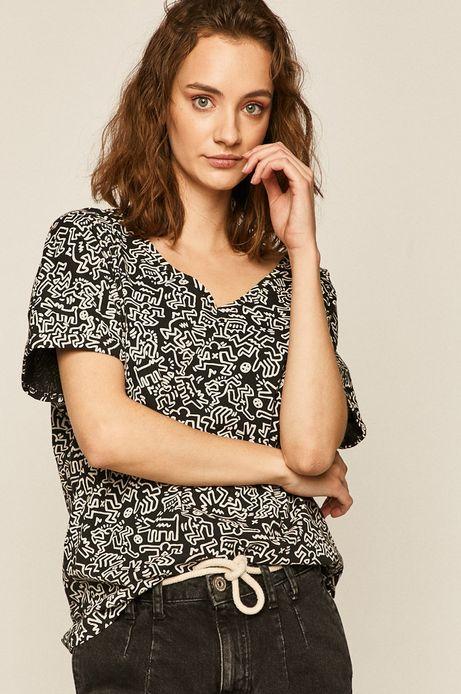 T-shirt damski by Keith Haring czarny