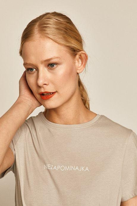 T-shirt damski z nadrukiem szary