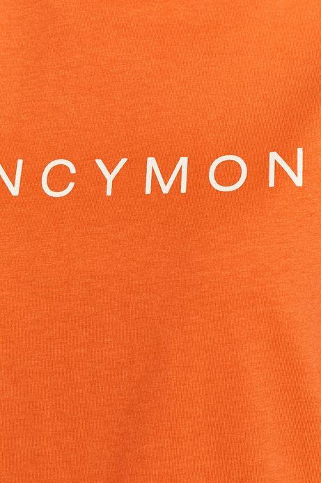T-shirt damski z nadrukiem pomarańczowy