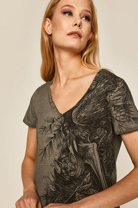 T-shirt damski by Daniel Bacz, Tattoo Konwent szary