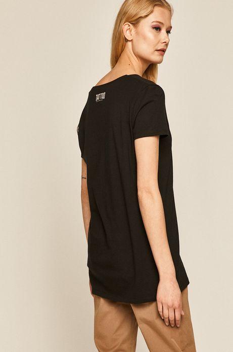 T-shirt damski by Daniel Bacz, Tattoo Konwent czarny