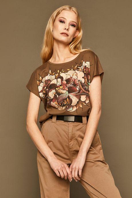 T-shirt damski by Karolina Wilczewska, Tattoo Konwent beżowy