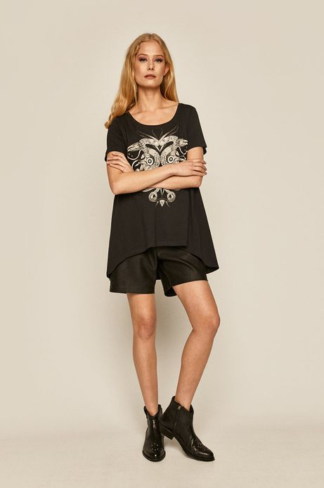 T-shirt damski by Karolina Cecot, Tattoo Konwent szary
