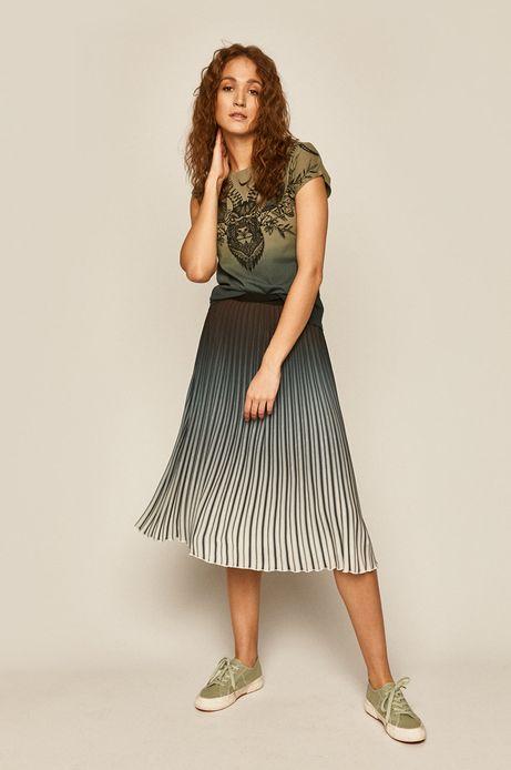 T-shirt damski z bawełny organicznej z nadrukiem