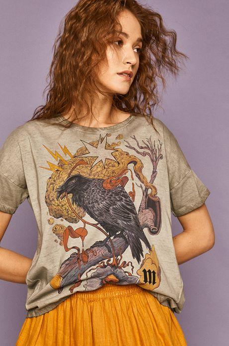 T-shirt damski by Damian Dideńko szary
