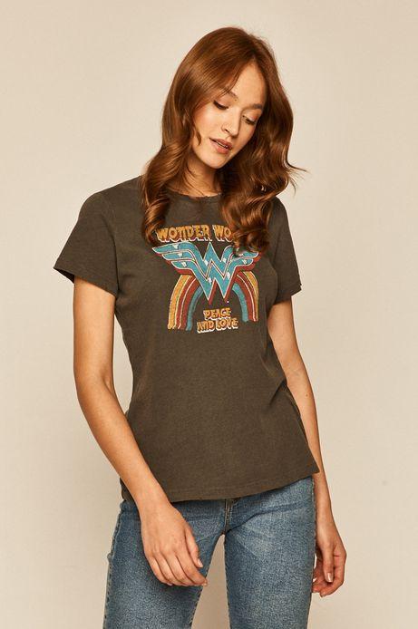 T-shirt damski Wonder Woman z nadrukiem szary