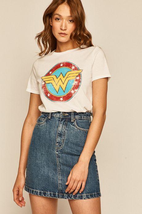 T-shirt damski Wonder Woman z nadrukiem biały