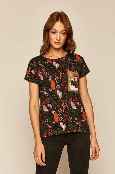 T-shirt damski by Joanna Wójtowicz czarny
