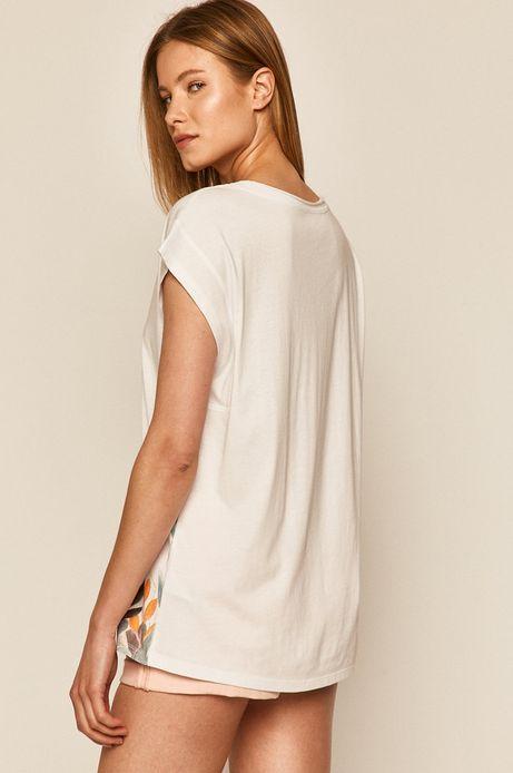 T-shirt damski z nadrukiem biały