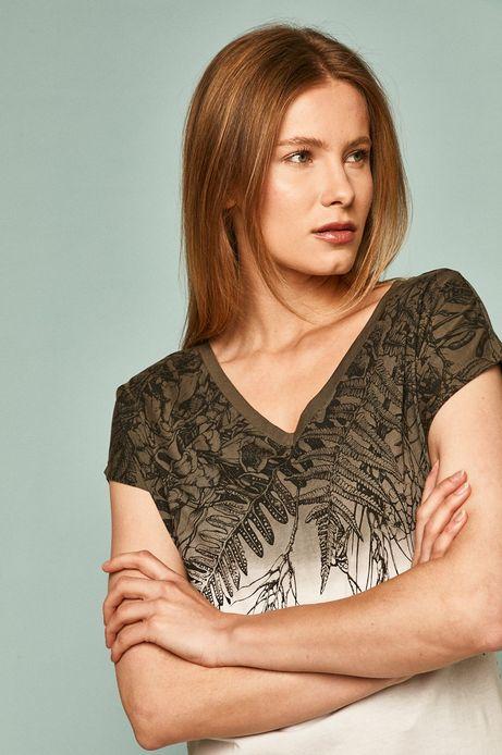 T-shirt damski by Alicja Marczyk, Grafika Polska biały