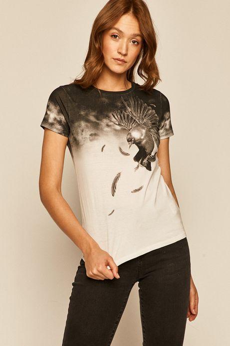 T-shirt damski by Tomasz Majewski, Grafika Polska biały