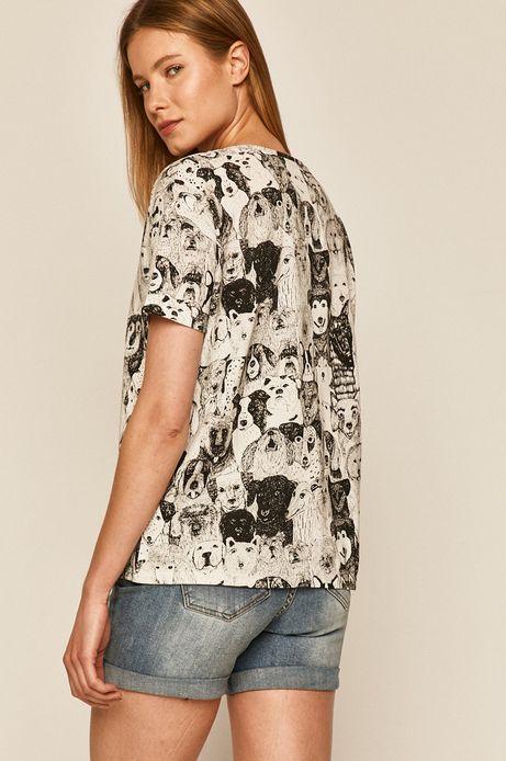 T-shirt damski by Kasia Walentynowicz, Grafika Polska biały