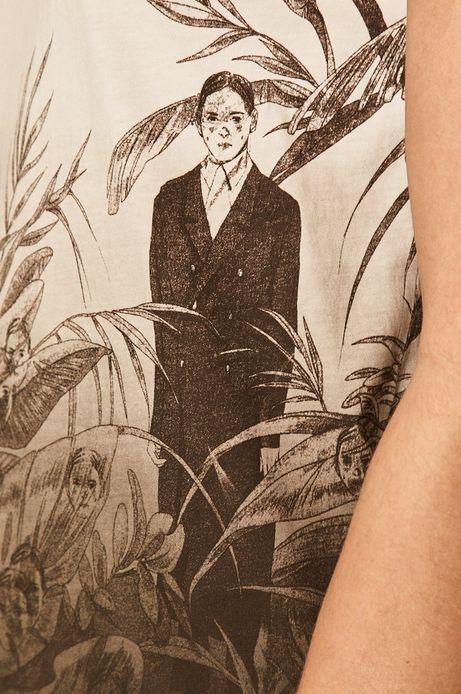 T-shirt damski by Olga Wieszczyk, Grafika Polska biały