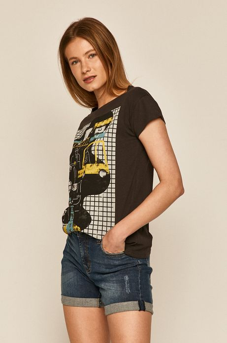 T-shirt damski by Paulina Adamowska, Grafika Polska szary