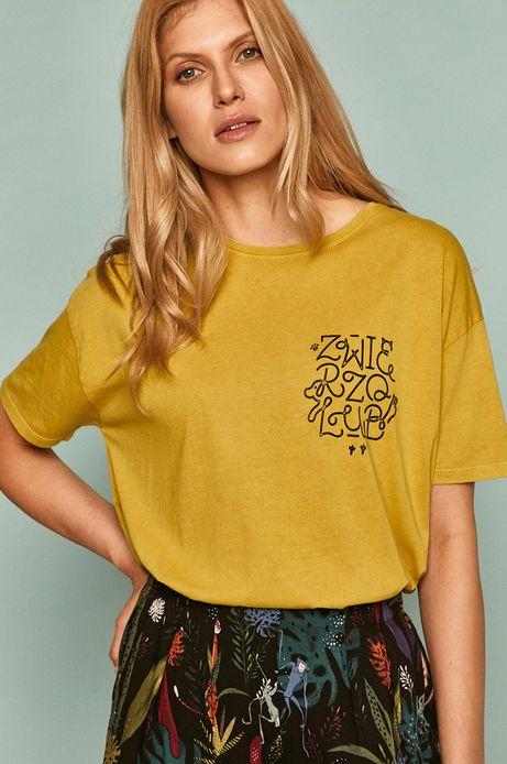 T-shirt damski by Alan Kamiński, Grafika Polska żółty