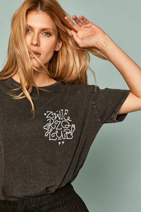 T-shirt damski by Alan Kamiński, Grafika Polska szary