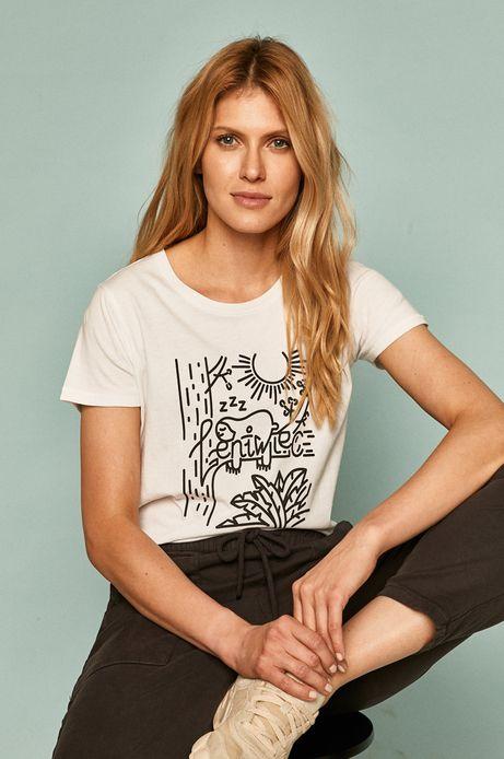 T-shirt damski by Alan Kamiński, Grafika Polska biały