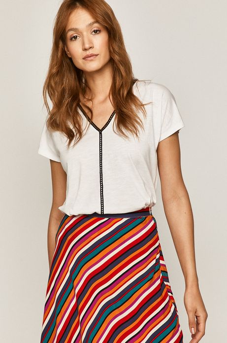 T-shirt damski z wiązaniem na plecach