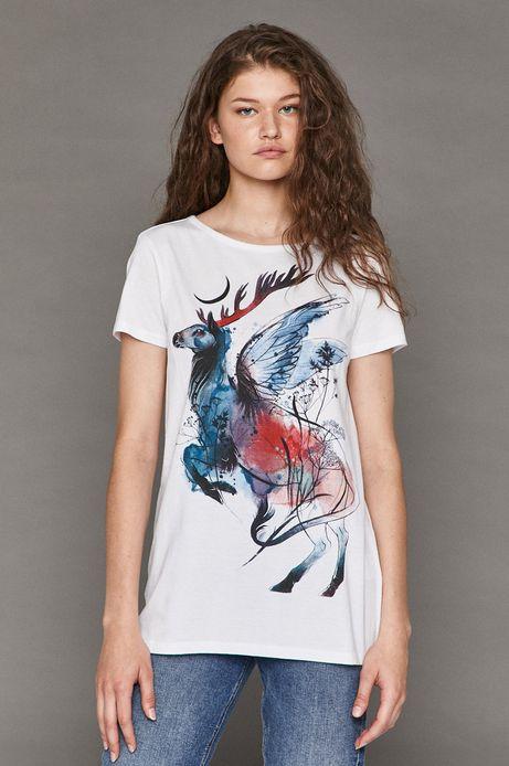 T-shirt damski by Agnieszka Trojanowska, Tattoo Konwent biały