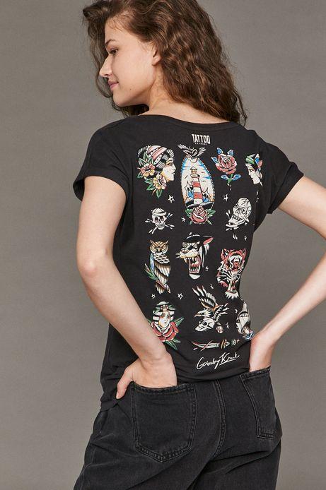 T-shirt damski by Gruby Kruk, Tattoo Konwent czarny