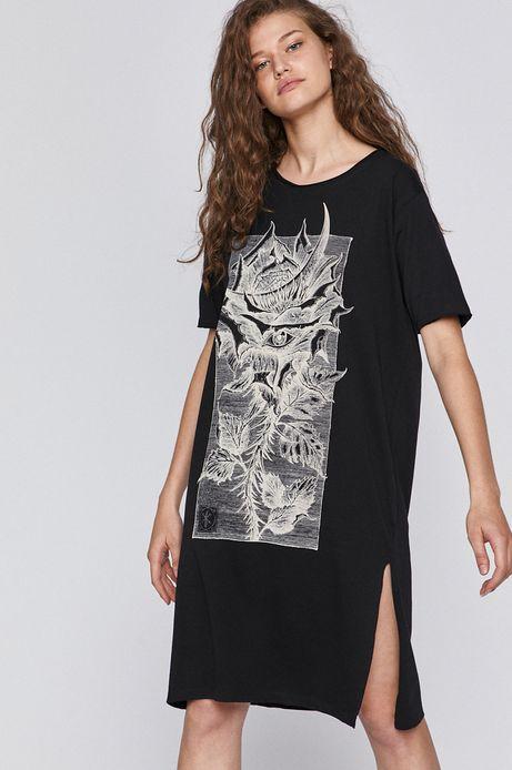 T-shirt damski by Fabian Staniec,Tattoo Konwent czarny