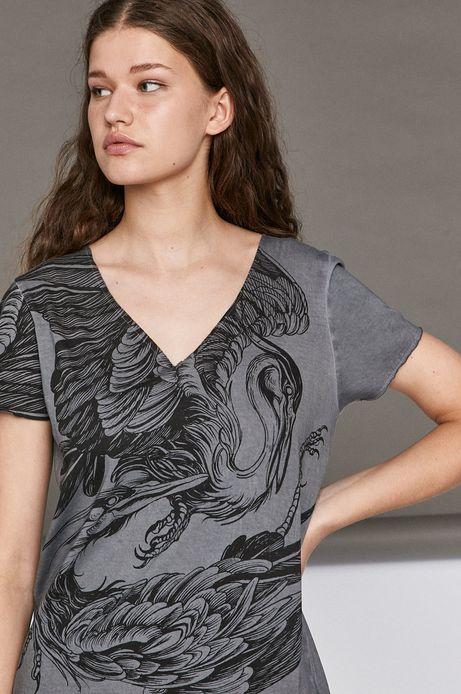 T-shirt damski by Agata Wiwczarek, Tattoo Konwent szary