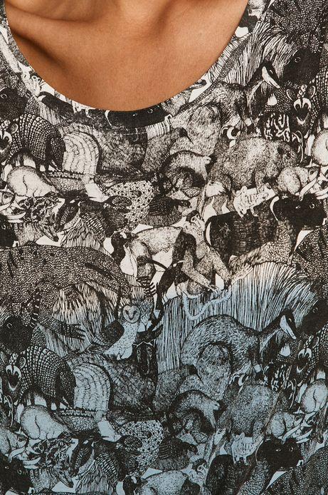 T-shirt damski by Kasia Walentynowicz, Zagrywki granatowy
