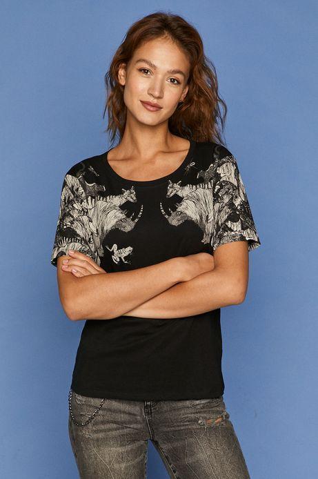 T-shirt damski by Kasia Walentynowicz, Zagrywki czarny